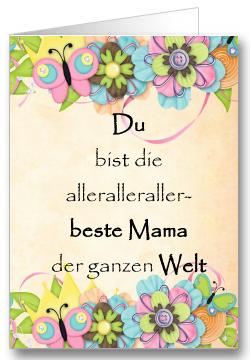 Grußkarte zum Muttertag Blumen