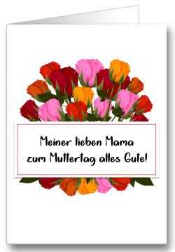 Grußkarte zum Muttertag Blumenstrauss
