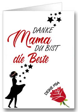 Grußkarte zum Muttertag Sterne