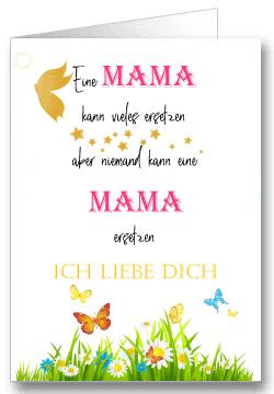 Grußkarte zum Muttertag Wiese