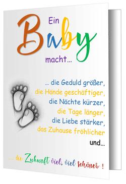 Baby-Grußkarte-Baby
