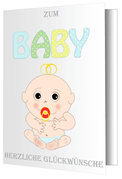 Baby-Grußkarte-Glückwünsch