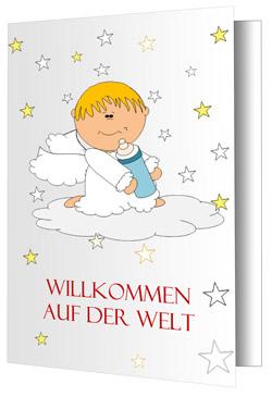 Baby-Grußkarte-Sterne