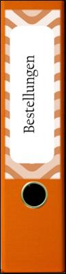 Ordnerrücken Breit Orange