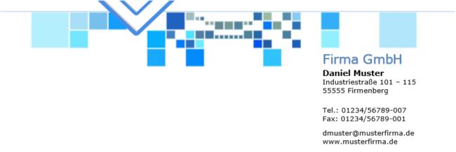 Briefkopf Blau