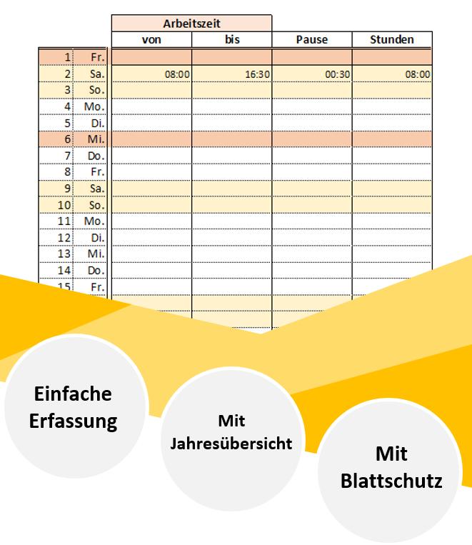 Excel Arbeitszeitnachweis Vorlagen 2020 Excel Stundenzettel 7