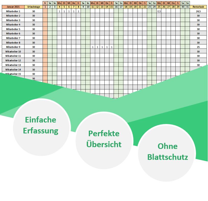 Kostenloser Urlaubsplaner Fur Mitarbeiter 2021 In Excel 9