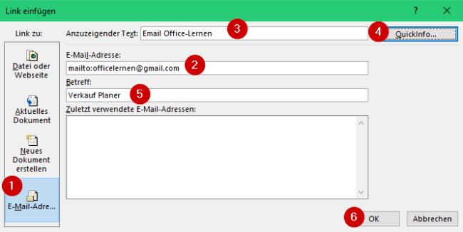 Email-Link-einfuegen