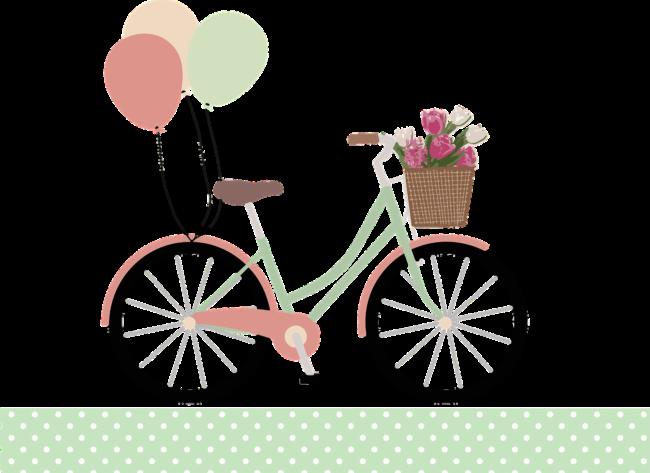 Fahrrad mit Blumenkorb