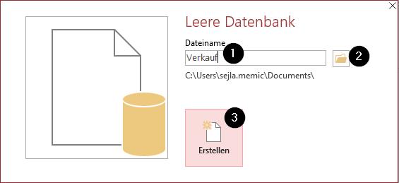 Leere Datenbank erstellen