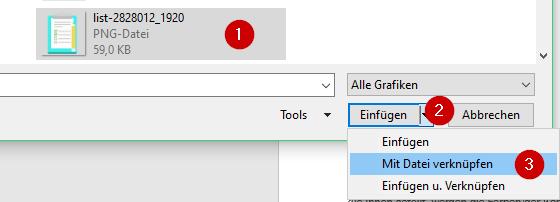 MIt Datei verknüpfen