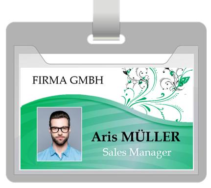 Mitarbeiterausweis Grün