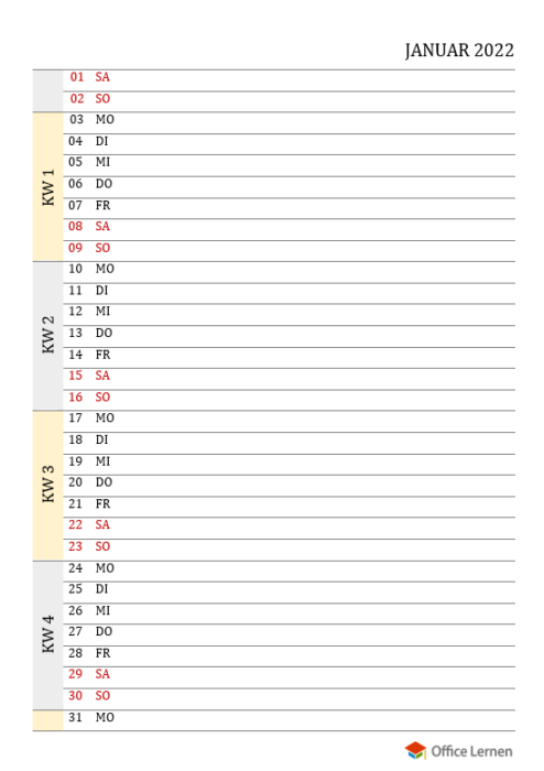 Monatskalender-Gelb-Grau-2022