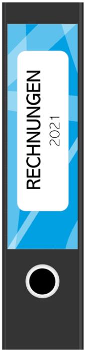 Ordnerrücken-Breit-Rechnungen Blau