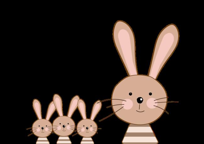 Osterhase Familie