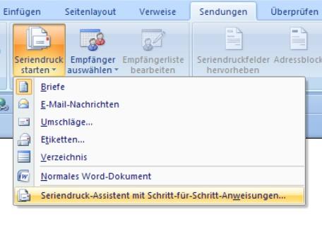 Serienbriefe Mit Word Erstellen Office Lernencom
