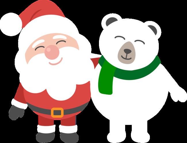 Weihnachtsman und Bär
