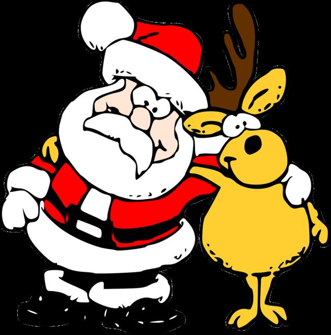 Weihnachtsman und Rentier