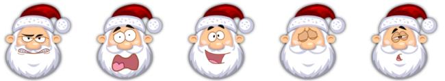 Weihnachtsmann mit Mütze Icons