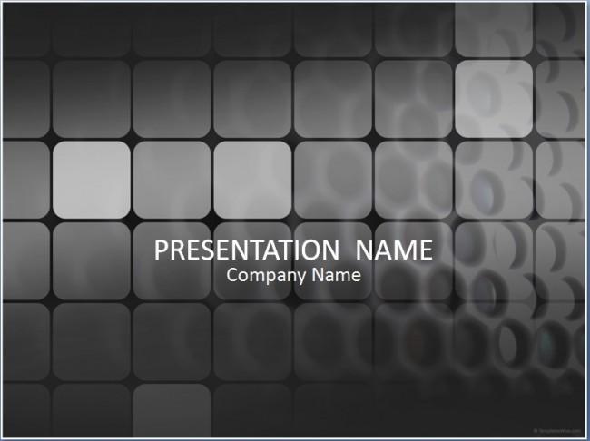 Schwarze Quadrate Präsentationsvorlage
