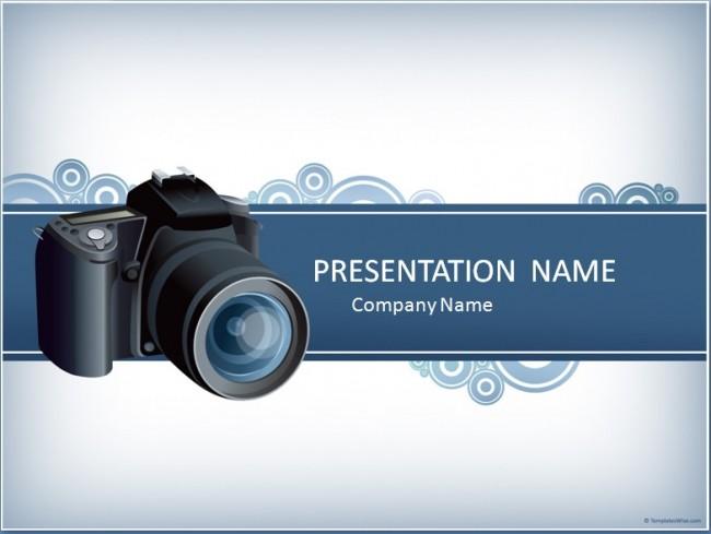 Kamera Präsentationsvorlage