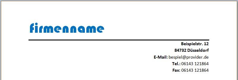 Mit Word eigenen Briefkopf erstellen und gestalten - Office-Lernen.com