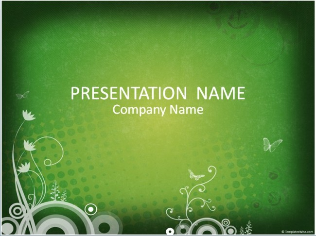 Grüne Präsentationsvorlage